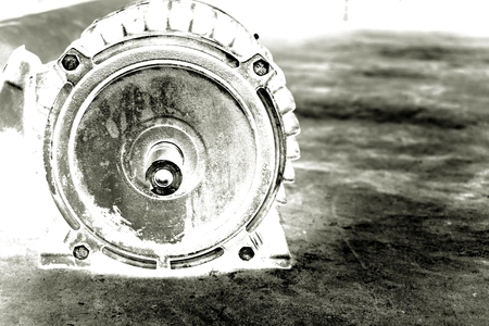 internally: abstract of black and white water pump Stock Photo