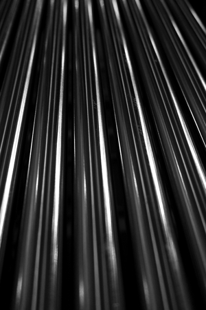chrome metal: abstract of line up metal tube for background used Stock Photo