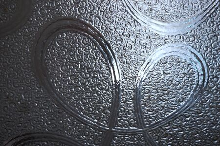 sliver: abstract sliver glass with curve line look like heart shape