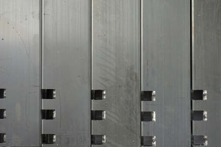 white metal: abstract of black and white metal lath Stock Photo