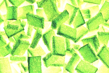 scouring: abstract mix of square scouring pad for background used