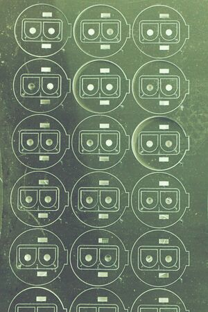 robot face: abstract of laser cutting look like robot face