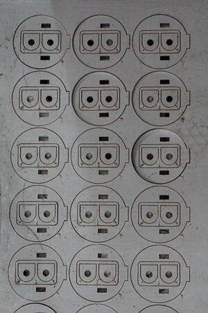 corte laser: abstracta de corte por l�ser parece la cara de robot