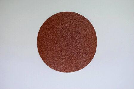 density: sand paper density 80 pcs per square inch on white background Stock Photo