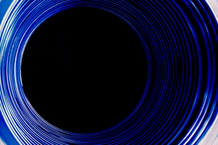 reincarnation: abstract of dark blue tunnel for background used