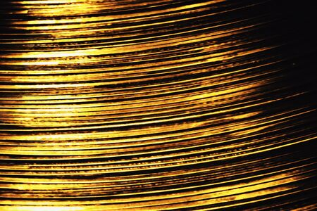 curve line: abstract golden metal line curve for background used Stock Photo