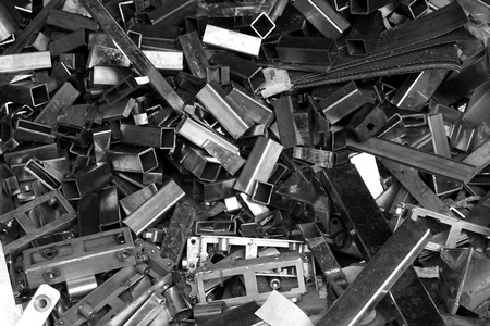 filings: abstract of scraps of metal in the factory