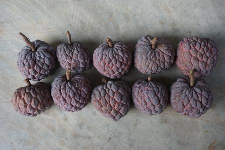 number ten: used purple custard apple to be fruit count series in number ten