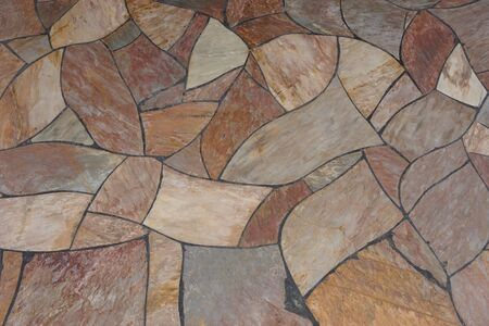 in the floor: abstract of granite tile floor for background used Stock Photo