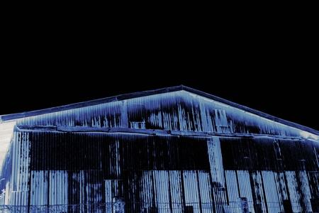 abandon: close up old abandon warehouse at the countryside Stock Photo