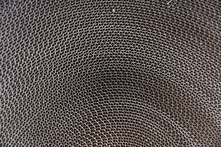 paperboard: abstract roll of corrugated paperboard for background used Stock Photo