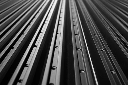 abstract line up di profilo in alluminio per lo sfondo usato Archivio Fotografico