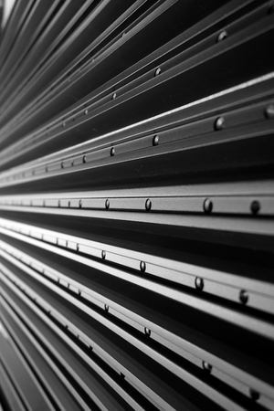 extrusion: abstract line up of aluminum profile for background used