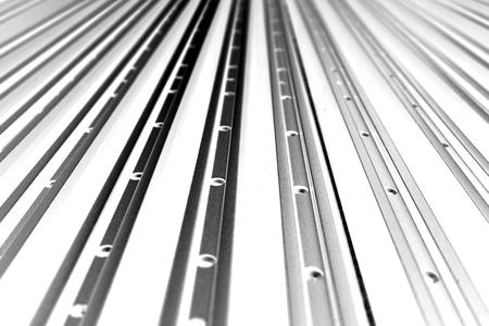 abstract line up di profilo in alluminio per lo sfondo usato
