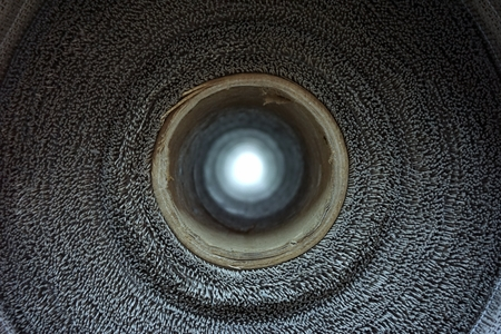 abstract of the concept in light at the end of the tunnel