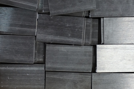 metal box: stack of metal box for background used Stock Photo