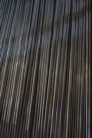 aluminum rod: line up stainless steel shaft for background used