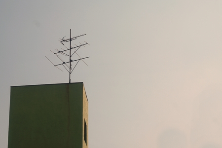 tv antenna: abstract of TV antenna for background used