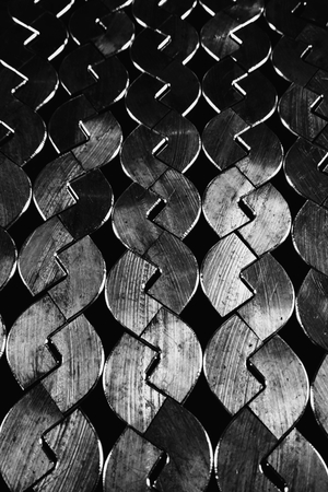 antique factory: abstract of metal with variety shape for background used