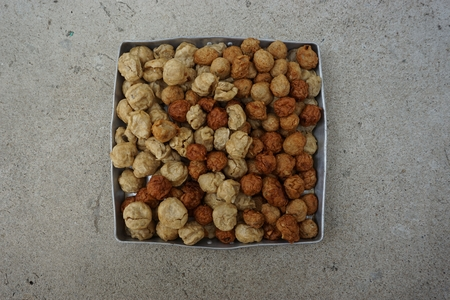 deep fry: mix of deep fry fish ball and shrimp ball