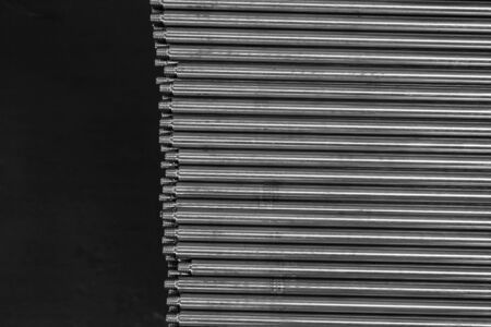 stud: stack of stainless steel stud rod in the factory