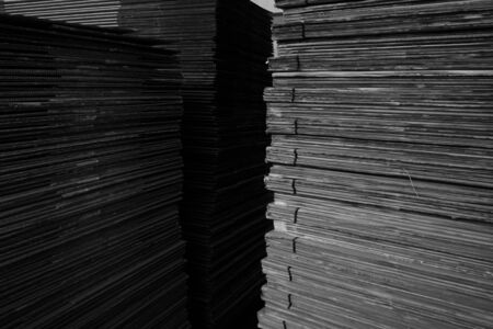 corrugate: abstract stack of carton for background used