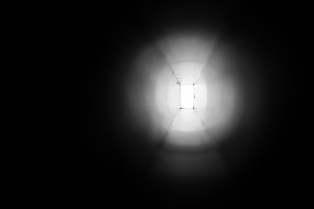 afterlife: abstract of light at the end of the tunnel