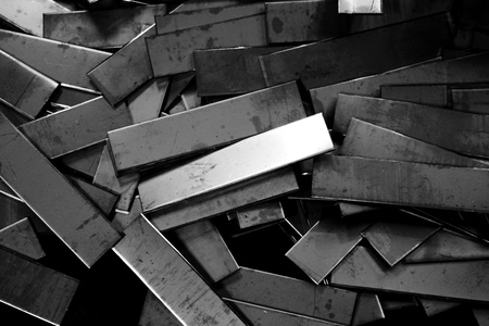 hard alloy: abstract of metal pieces texture for background used