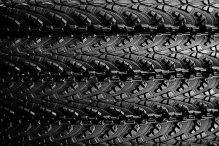 tyre tread: abstract of rubber wheel texture for background used