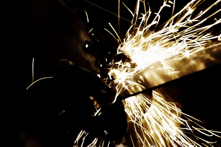 abstract of polish sparking in the factory