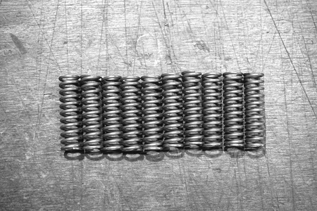 group of metal spring in the factory
