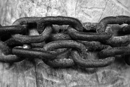 abstract of old iron chain for background used Stock fotó