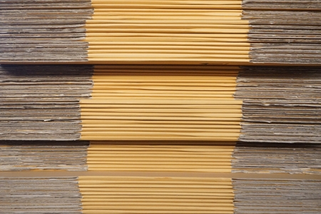 abstract of corrugated paper for background used Stockfoto