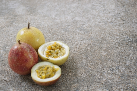 the tropical fresh color of passion fruit for background used