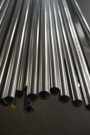 abstract of circle metal tube for background used
