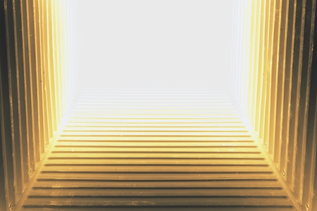 abstract of light at the end of tunnel for background used