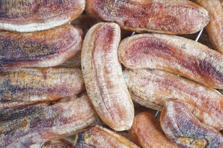 close up group of sun dried banana