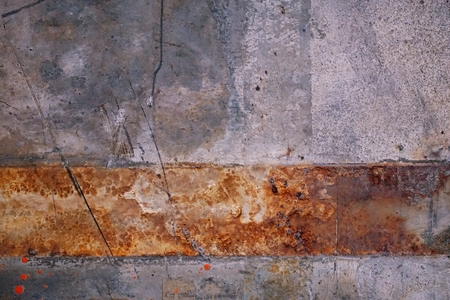 abstract of rust on floor for background used
