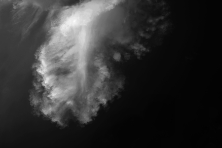 abstract smoke shape in the natural environment