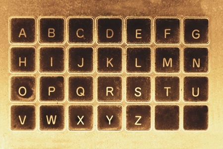abstract of keyboard in retro style for background used Фото со стока
