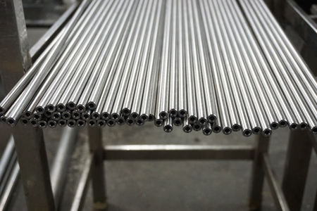 group of stainless steel shaft  in factory