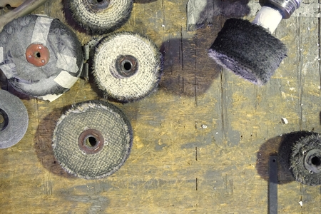 group of polishing wheel used in the factory
