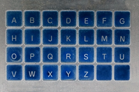 abstract of keyboard in retro style for background used Reklamní fotografie
