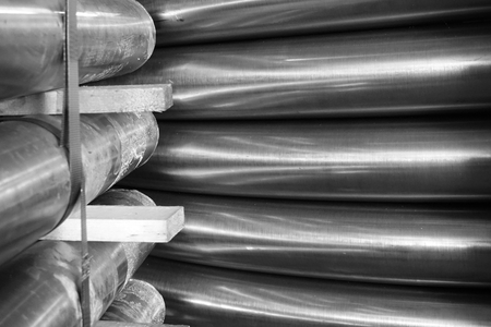 abstract of round metal tube for background used Reklamní fotografie