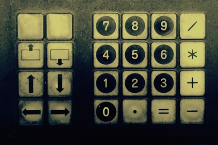 abstract of numpad in retro style for background used