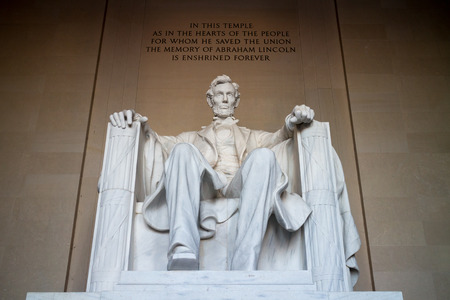 abraham lincoln: The statue of Abraham Lincoln, Lincoln Memorial, Washington DC Stock Photo