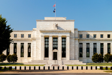 Federal Reserve Building, Washington DC, USA. 에디토리얼