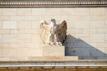 reserve: Federal Reserve Building, Washington DC, USA. Stock Photo