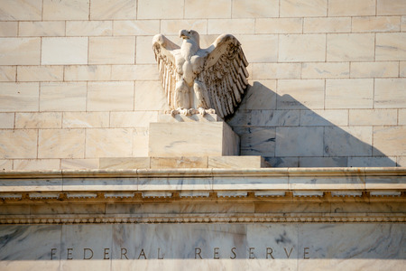 Federal Reserve Building, Washington DC, USA. 스톡 콘텐츠