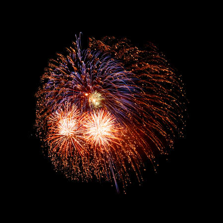 Isolated beautiful fireworks. photo